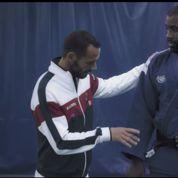 Quand Teddy Riner soutient l'équipe de France de Coupe Davis