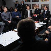 La visite de François Hollande à Florange en six images