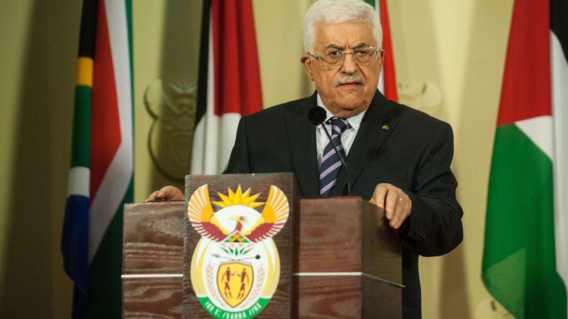 Mahmoud Abbas, lors d'une conférence de presse en Afrique du Sud, le 26 novembre.