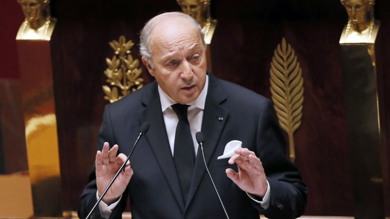 Laurent Fabius, vendredi, à l'Assemblée nationale.