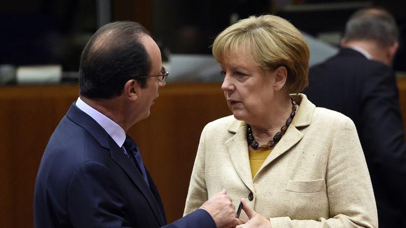 François Hollande et Angela Merkel, au sommet européen de Bruxelles en octobre dernier