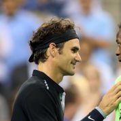 Gaël Monfils fait danser Roger Federer en Inde