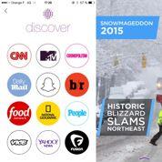 Snapchat lance Discover et réinvente le JT sur mobile