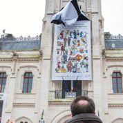Angoulême 2015: une bâche en hommage à Charlie Hebdo