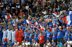 Par précaution, les fans français sont venus très en avance pour la finale