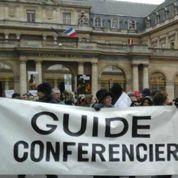 Les guides manifestent au Mont-Saint-Michel