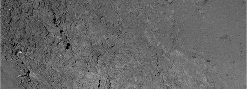 Premier cliché du rase-mottes cométaire de Rosetta
