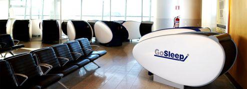 Des caissons en libre service pour faire une sieste à l'aéroport