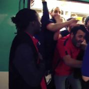 Des supporters du PSG parodient la scène du métro avec un fan de Chelsea