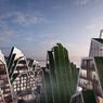 <b>Hualien Residences, Hualien, Taiwan</b>             - L'architecture des bâtiments se veut miroir de son environnement:  un terrain montagneux recouvert de végétation. Le projet a l'ambition de réconcilier nature et environnement.