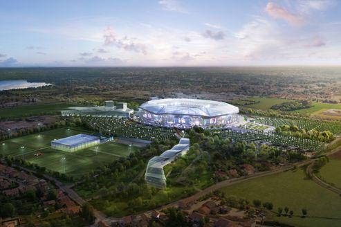 Le projet du futur stade des lumières, à Lyon.