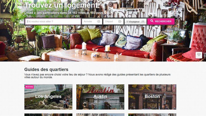 Le site Airbnb met en relation des hébergeurs et des voyageurs dans plus de 30.000 villes.