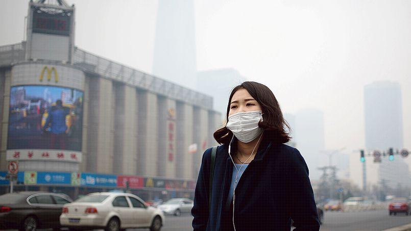La pollution à Pékin dépasse souvent les niveaux tolérés par l'Organisation mondiale de la santé.