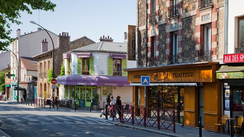 La rue Robespierre à Montreuil en Seine-Saint-Denis.