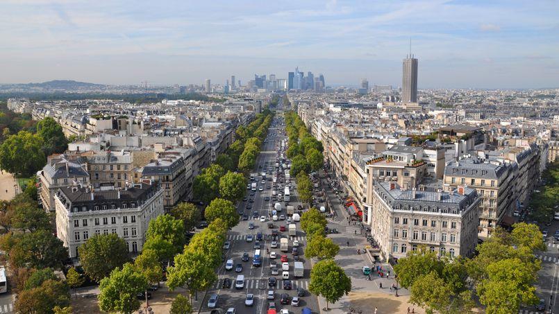 L'avenue de la Grande Armée à Paris.