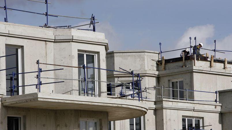 Construction de logements neufs à Marne-la-Vallée. Le nombre de mises en chantier a diminué de 19%, selon les statistiques du deuxième trimestre 2014.