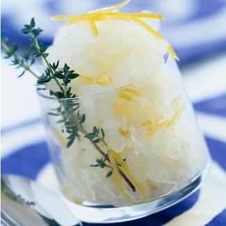 Recette Granite Thym Citron Cuisine Madame Figaro