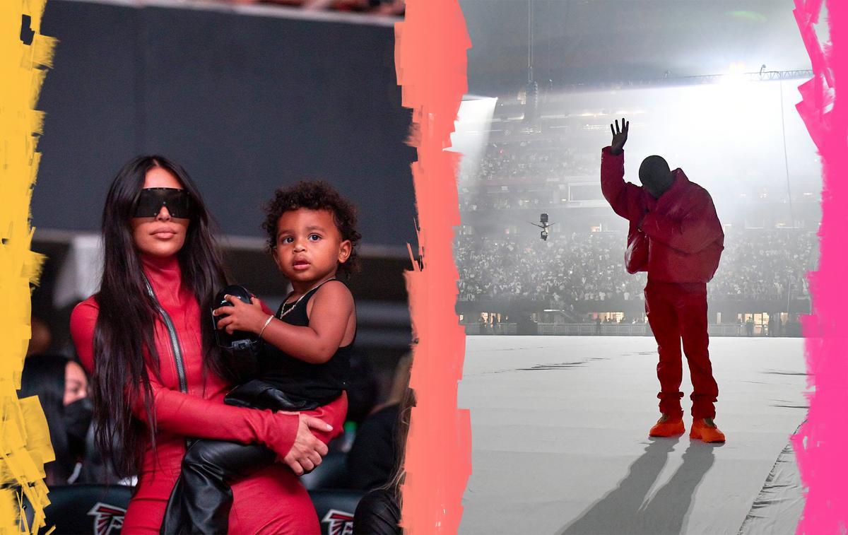 Séparés mais assortis : Kim Kardashian et Kanye West coordonnent leurs tenues lors d'une soirée à Atlanta