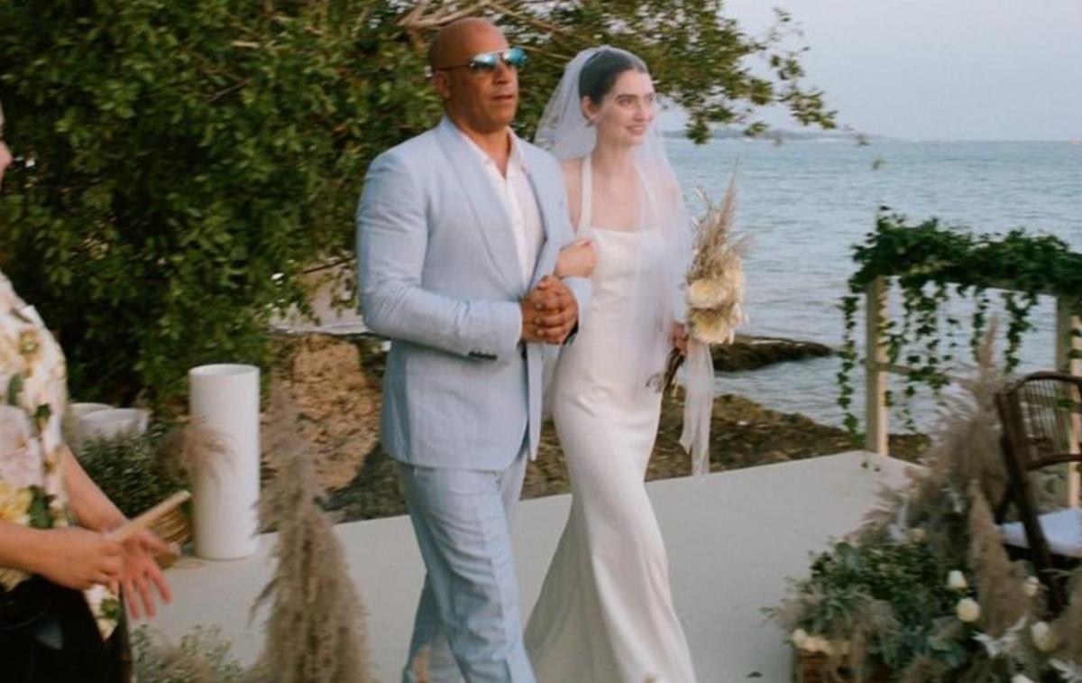 En images, le mariage de Meadow, la fille de Paul Walker, conduite à l'autel par Vin Diesel