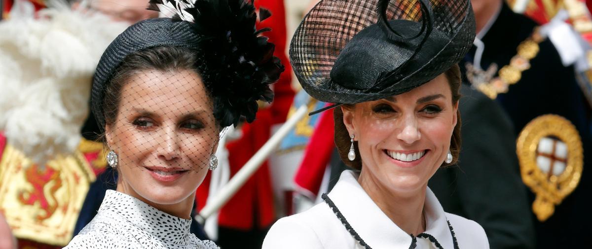 Letizia d'Espagne et Kate Middleton, quand la reine de l'élégance rencontre la duchesse du style
