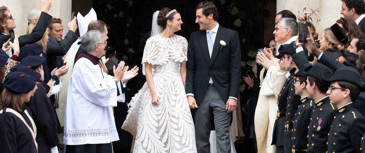 En photos, le mariage de l'héritier de Napoléon et la descendante de Marie-Louise d'Autriche