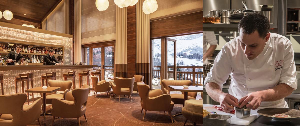 Le Bar Edmond à Megève, pépite d'élégance au cœur d'un palace alpin