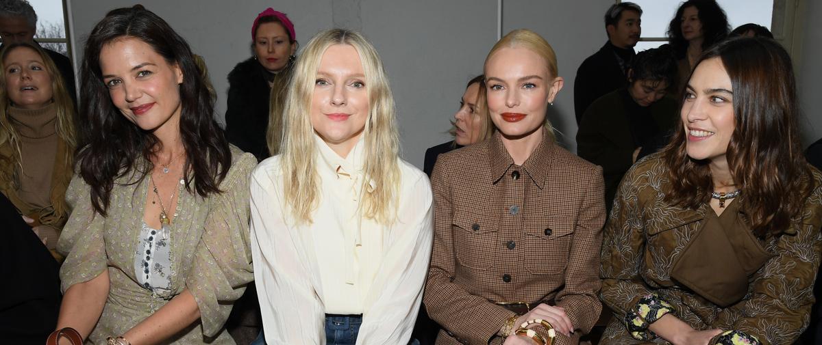 Katie Holmes, Isabelle Huppert, Alexa Chung... Les célébrités à la Fashion Week de Paris