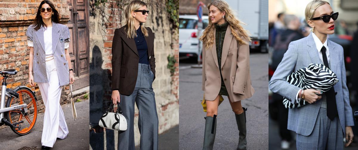 Street style : le blazer s'invite à la Fashion Week de Milan