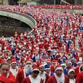 Santa course à Liverpool