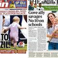 Le prince George fait ses premiers pas à la une de la presse anglaise