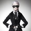"Karl Lagerfeld et son ""mini-moi"" féminin"