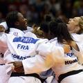 Les cinq femmes en or du judo français