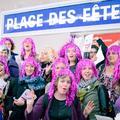 Des féministes dans le métro pour dire non à la peur
