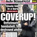 Gisele Bündchen cachée sous une burqa pour ne pas être reconnue ?
