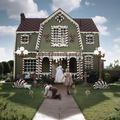Une artiste américaine crée une maison de pain d'épices grandeur nature