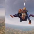 Pour ses 92 ans, une Bretonne s'offre son premier saut en parachute