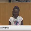 Violences policières aux États-Unis: le discours poignant d'une fillette