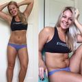 Une blogueuse fitness dénonce l'illusion du corps parfait en deux photos