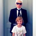 Hudson Kroenig x Karl Lagerfeld Kids, la collection capsule de Karl et son filleul