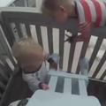 Deux bébés se font la belle avec beaucoup d'ingéniosité