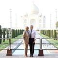 Les photos romantiques du couple Macron en Inde