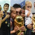 Les femmes, les enfants et les parents des Bleus célèbrent la victoire de la France
