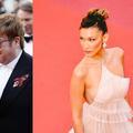 """Elton John très tendu, Bella Hadid dénudée : les marches de """"Rocketman"""""""