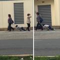 La vidéo d'une mère traînant son fils endormi sur son cartable ravit les internautes