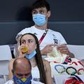 Tom Daley, le champion olympique de plongeon qui tricote entre les compétitions
