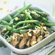 Salade de foies de lapin confits