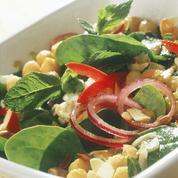 Salade d'épinards et de pois chiches