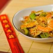 Crevettes sautées à la chinoise