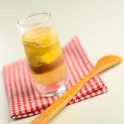 Verrine de foie gras aux artichauts