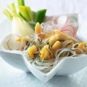 Salade de vermicelles aux coquillages